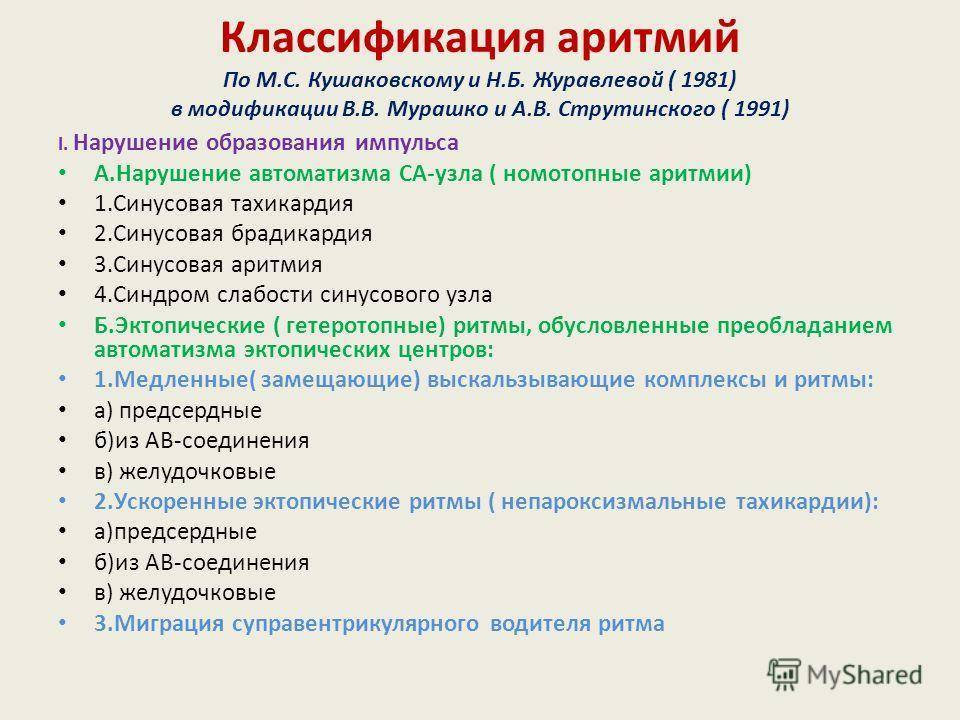 Глава xii. нарушения ритма и проводимости12.4 классификация аритмий | medpro